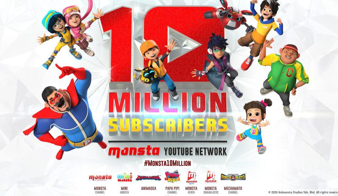 Monsta YouTube Network Passes10 Million Subscriber Mark