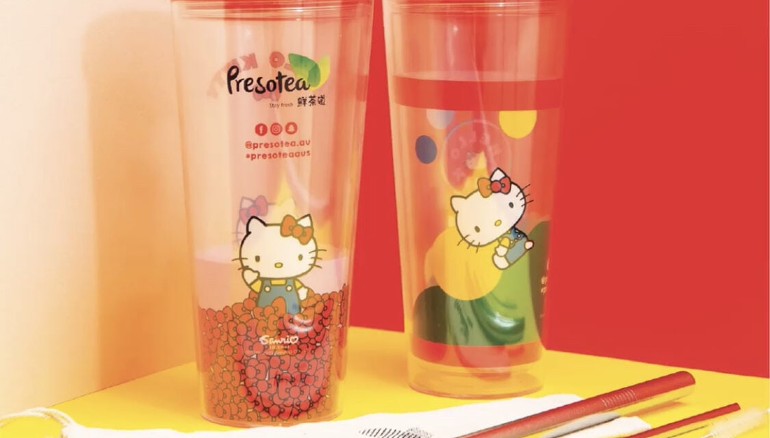 Presotea Australia Celebrates 'Plastic Free July' with Hello Kitty Collectable Cups