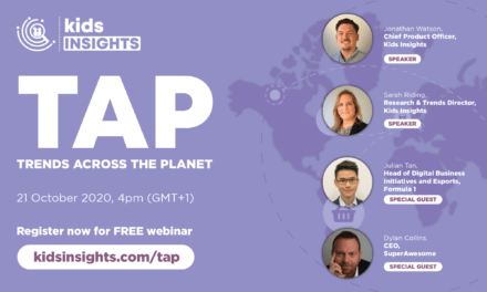 Kids Insights Webinar Taking Place 21 October