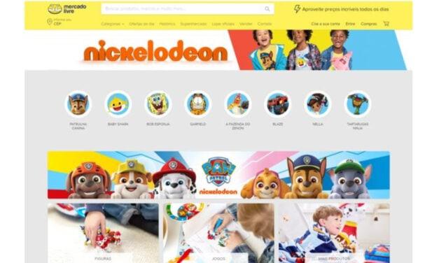 Nickelodeon-branded store on Latin America e-commerce site