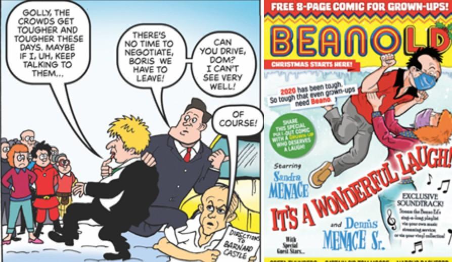 Captain Sir Thomas Moore, Dominic Cummings and Marcus Rashford star in 'Beano for Grown Ups'