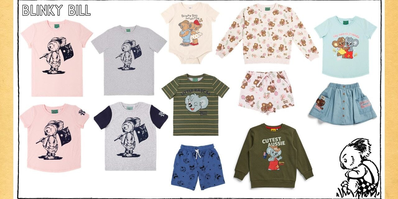Blinky Bill partners with Caprice Australia and Cotton Australia for an extensive BIG W Range