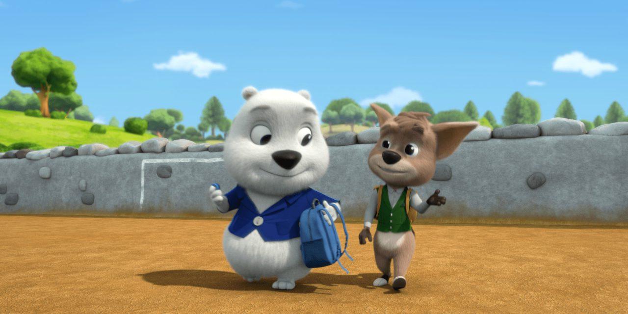 Paddles the huggable polar bear comes to RTE Jr