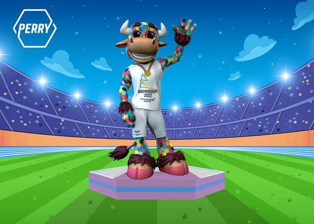 Mascot for the Birmingham 2022 Commonwealth Games reveale as Perry