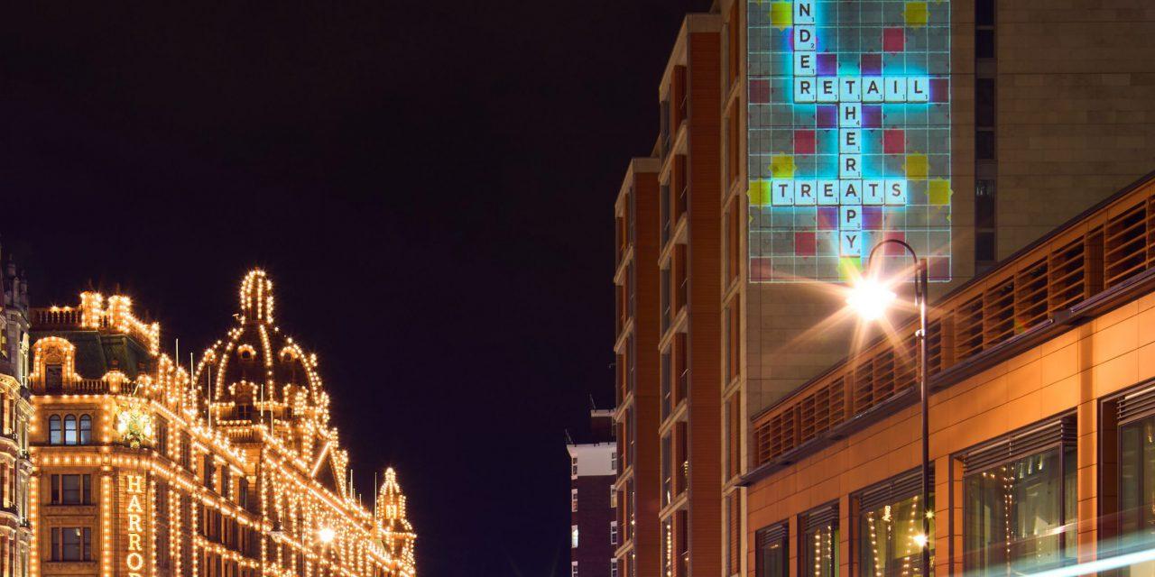 Scrabble Beams Words of Hope on Landmarks