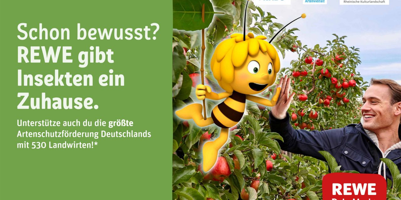 REWE Appoints Maya the Bee as Brand Ambassador