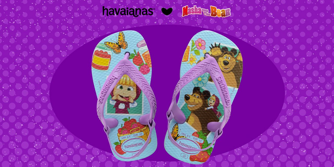 Havaianas introduces new flip flops with Masha and the Bear to the global market