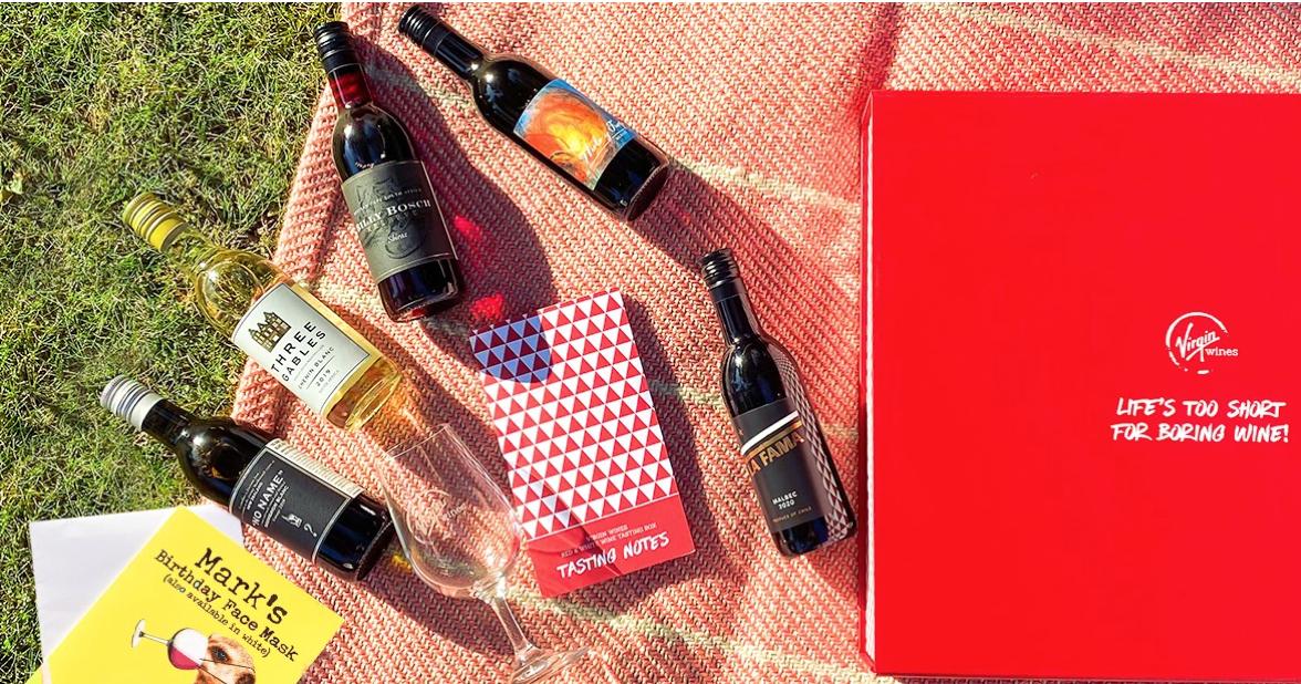 Moonpig in partnership with Virgin Wines